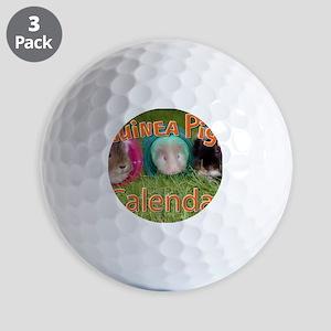 Guinea Pigs #2 Wall Calendar Golf Balls