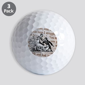 Mr Darcys Proposal, Jane Austen Golf Balls