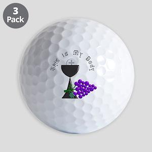 Eucharist Chalice Golf Balls