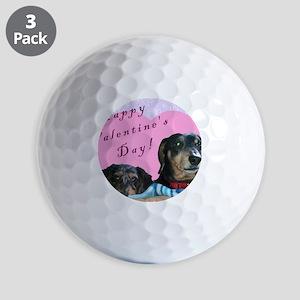Happy Valentines Day Golf Balls
