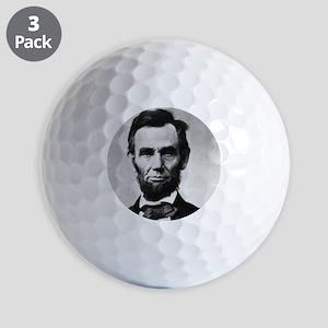 abe lincoln puzzle Golf Balls