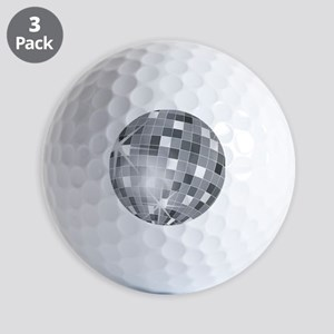 silver disco ball Golf Balls