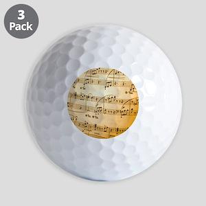 Music Sheet Golf Balls