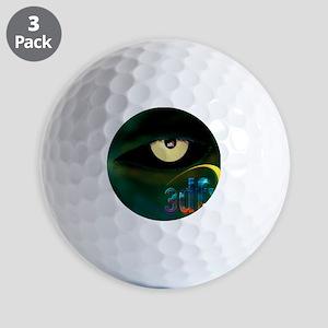 3dfx Got the voodoo eyes on you Golf Balls