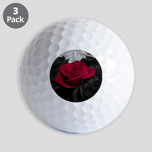 Red rose pop color Golf Balls