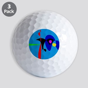 Abstract Expressionism Simple Digital Art Golf Bal
