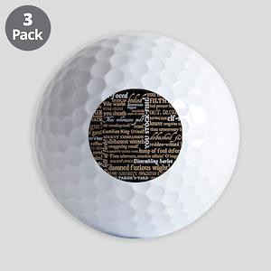 Shakespeare Quotes Golf Balls