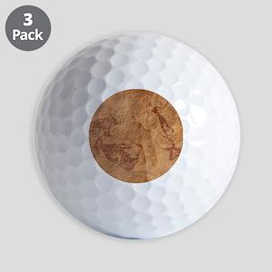 Pictograph detail of a Lion attack, Lib Golf Balls