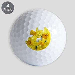Daffodils Style Golf Ball