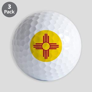 Flag of New Mexico Golf Balls