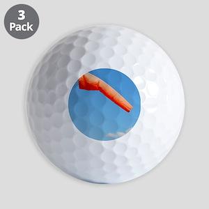 Windsock in an airfield Golf Balls