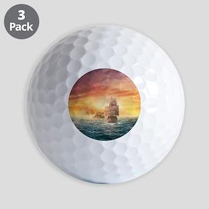 Pirate ship Golf Ball