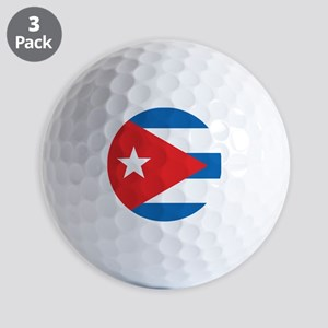 Cuban Flag Golf Balls