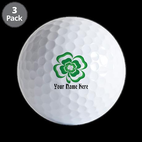Customizable Stacked Shamrock Golf Ball