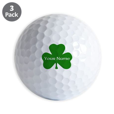 CUSTOM Shamrock with Your Name Golf Ball