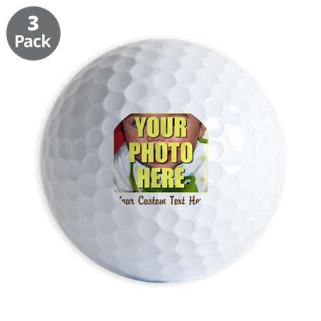 Custom Photo and Text Golf Balls