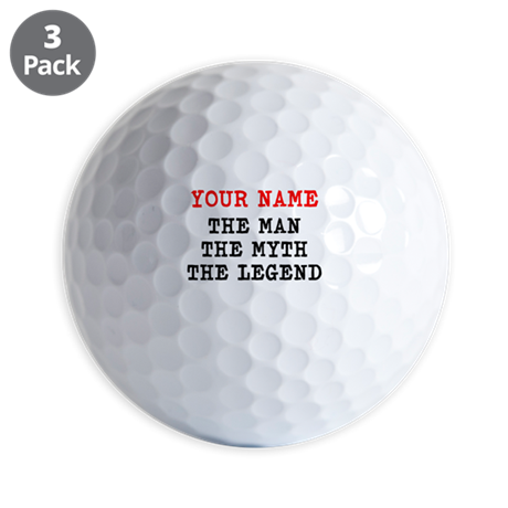 The Man The Myth The Legend Golf Ball