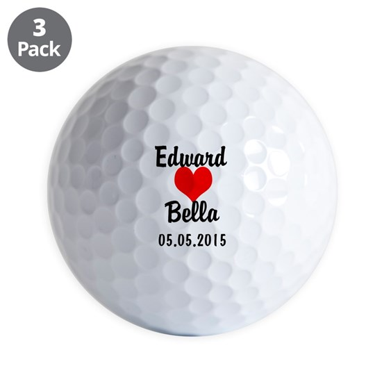 Couples Wedding Golf Ball
