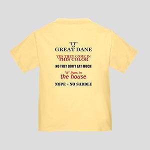 Great Dane Walking bk prnt Toddler T-Shirt