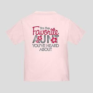 Favorite Aunt Toddler T-Shirt