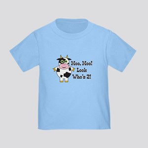 Cute Cow 2nd B-day Toddler T-Shirt