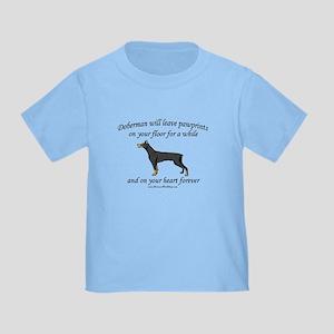 Doberman Pawprints Toddler T-Shirt