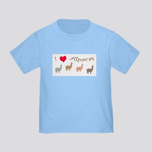 i love alpacas multi copy T-Shirt