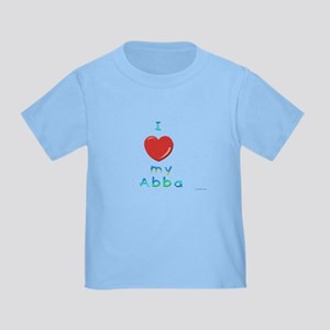 I Love My Abba Toddler T-Shirt