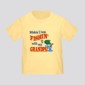 Fishing With Grandpa Toddler T-Shirt