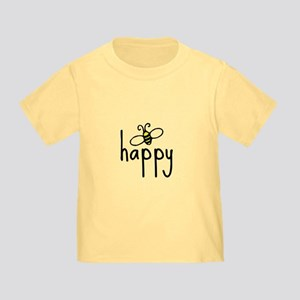 bee happy Toddler T-Shirt
