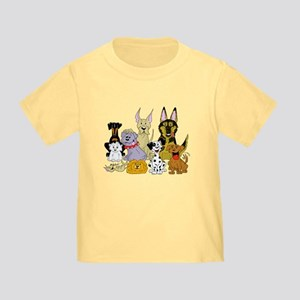Cartoon Dog Pack Toddler T-Shirt