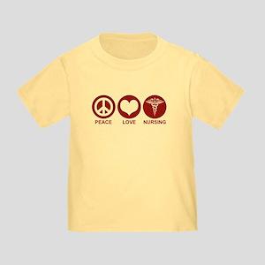 Peace Love Nursing Toddler T-Shirt