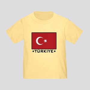 Flag of Turkiye Toddler T-Shirt