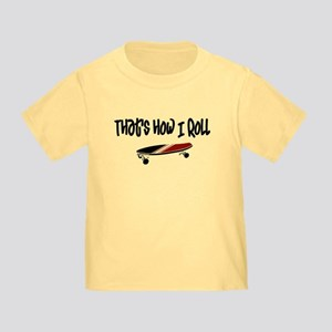 Skateboard Roll Toddler T-Shirt