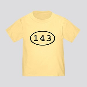143 Oval Toddler T-Shirt