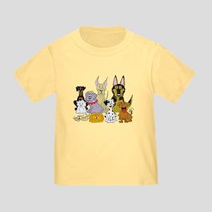 Cartoon Dog Pack Toddler T-Shirt