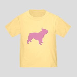 Pink French Bulldog Toddler T-Shirt