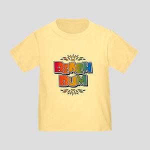 Beach Bum Retro Rainbow Toddler T-Shirt