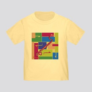 Bass Clarinet Colorblocks Toddler T-Shirt