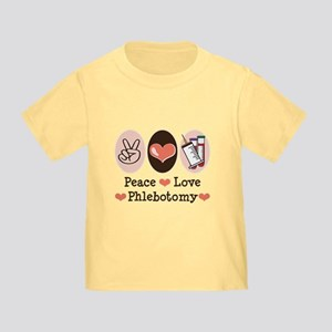 Peace Love Phlebotomy Toddler T-Shirt