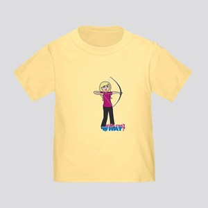 Archery Girl Light/Blonde Toddler T-Shirt