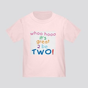 Whoo Hooo 2nd Birthday Toddler T-Shirt