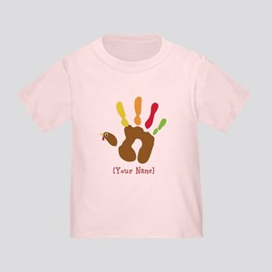 b0ed2bce Personalized Turkey Hand Toddler T-Shirt