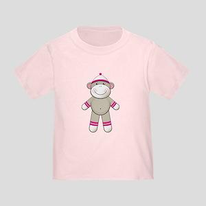 Pink Sock Monkey Toddler T-Shirt