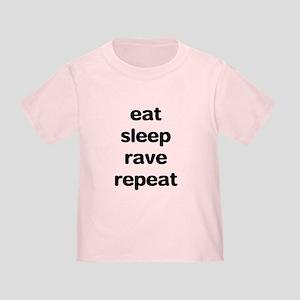 eat sleep rave. Toddler T-Shirt
