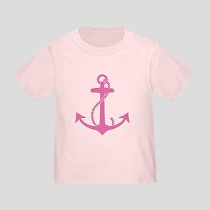 Pink Anchor Toddler T-Shirt