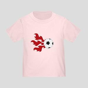 Soccer Ball Flames Toddler T-Shirt