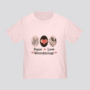Peace Love Microbiology Toddler T-Shirt