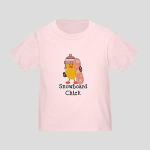 Snowboard Chick Toddler T-Shirt
