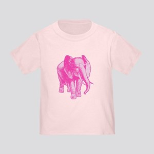 Pink Elephant Illustration Toddler T-Shirt